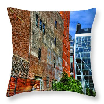 High Line Park Scene Throw Pillow by Randy Aveille
