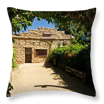 Historic Trading Post Throw Pillow by Bob and Nancy Kendrick