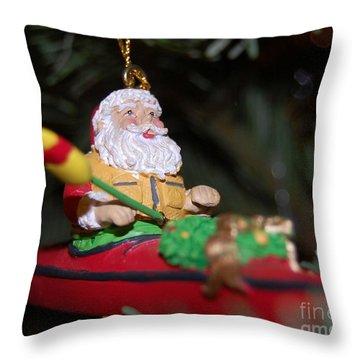 Ho Ho Ho Throw Pillow by Debbi Granruth