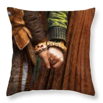 Holding Hands Throw Pillow by Jill Battaglia