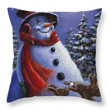 Holiday Magic Throw Pillow by Richard De Wolfe