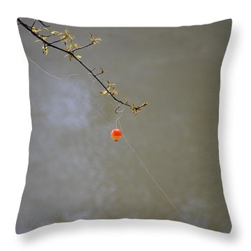 Hooked The Big One Throw Pillow by Kelly Rader