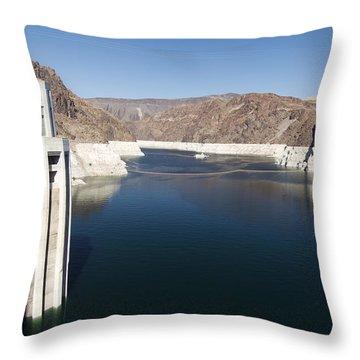 Hoover Dam Throw Pillow by Gloria & Richard Maschmeyer