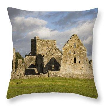 Hore Abbey, Cashel, County Tipperary Throw Pillow by Richard Cummins