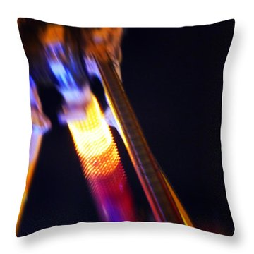 Hot Throw Pillow by Charles Stuart