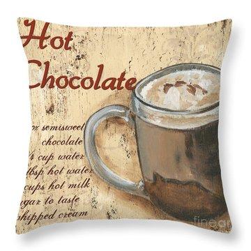 Hot Chocolate Throw Pillow by Debbie DeWitt