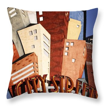 Hot City Streets Throw Pillow by Joan Carroll
