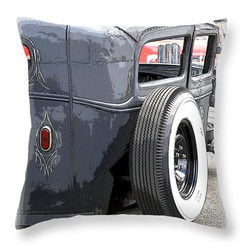 Hot Rods Forever Throw Pillow by Steve McKinzie