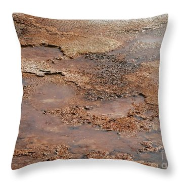 Hot Springs Abstract Throw Pillow by Sabrina L Ryan