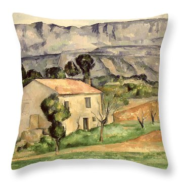 House In Provence Throw Pillow by Paul Cezanne