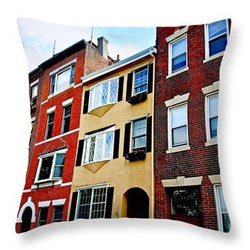 Houses In Boston Throw Pillow by Elena Elisseeva