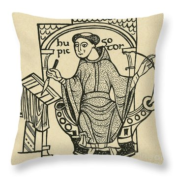 Hugo Pictor Throw Pillow by Photo Researchers