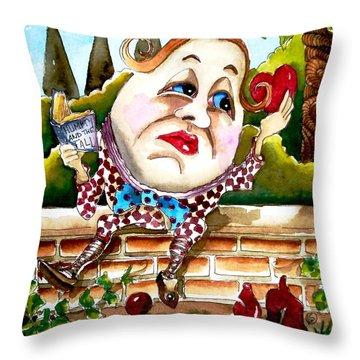 Humpty Dumpty Throw Pillow by Lucia Stewart