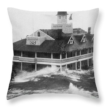 Hurricane Carol Throw Pillow by Science Source