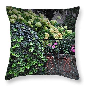 Hydrangeas Salzburg Throw Pillow by Mary Machare