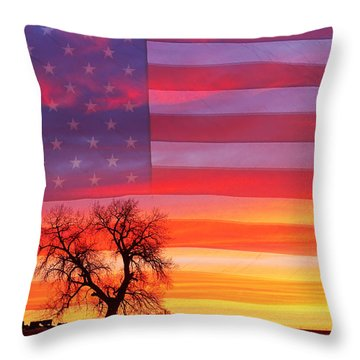 I Am Thankful To Be An American Throw Pillow by James BO  Insogna
