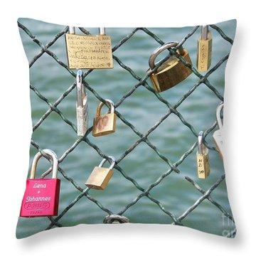 I Love You Paris Throw Pillow by Francoise Leandre