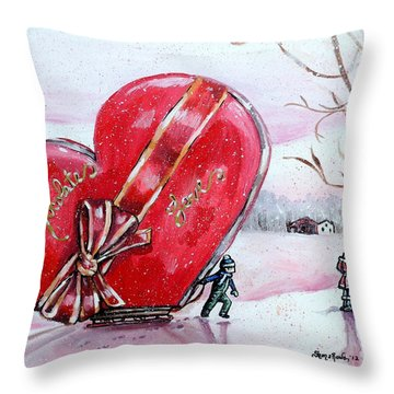 I Love You Thiiis Much Throw Pillow by Shana Rowe Jackson