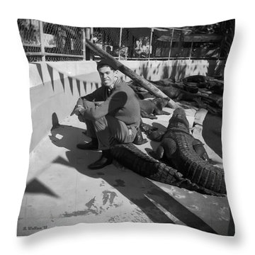 I Need Some Gator Aid Throw Pillow by Brian Wallace