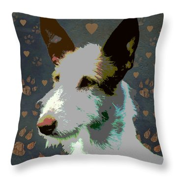 Ibizan Hound Throw Pillow by One Rude Dawg Orcutt