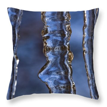 Icicles Throw Pillow by Heiko Koehrer-Wagner