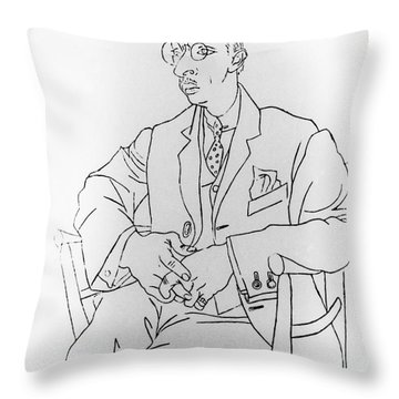 Igor Stravinsky, Russian Composer Throw Pillow by Omikron