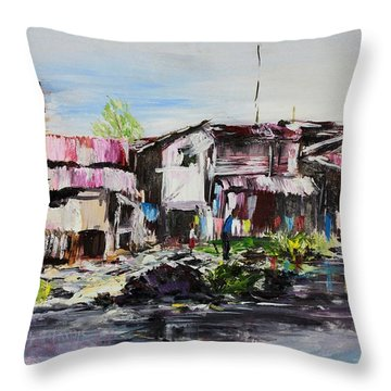 Ilaje Throw Pillow by Ogwah  Uly