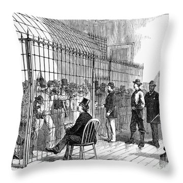 Illegal Voters, 1876 Throw Pillow by Granger
