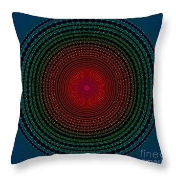 Illuminate Dark Circle  Throw Pillow by Atiketta Sangasaeng