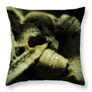 In A Little Garden Throw Pillow by Rebecca Sherman