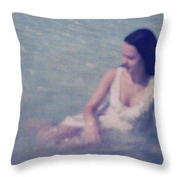 In Blue. Impressionism Throw Pillow by Jenny Rainbow