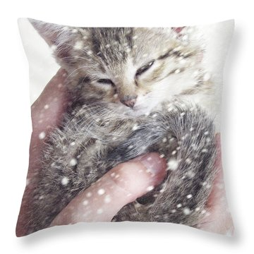 In Safe Hands II Throw Pillow by Amy Tyler
