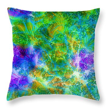 In The Cabbage Patch Throw Pillow by Judi Bagwell