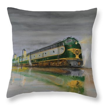 In The Cold Mist Throw Pillow by Christopher Jenkins
