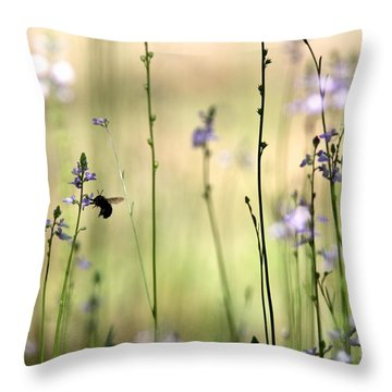 In The Field - Cards Throw Pillow by Travis Truelove