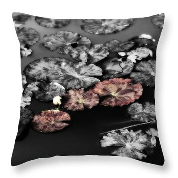 In The Pond Throw Pillow by Bonnie Bruno