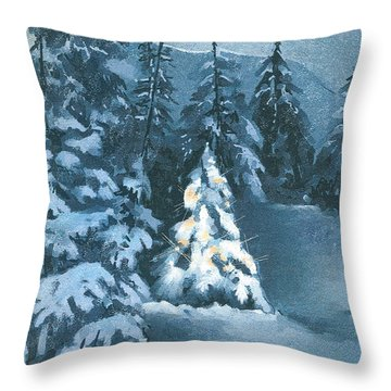 In The Spotlight Throw Pillow by Arline Wagner