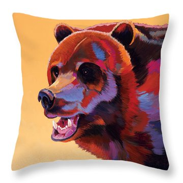 In Your Face Throw Pillow by Bob Coonts
