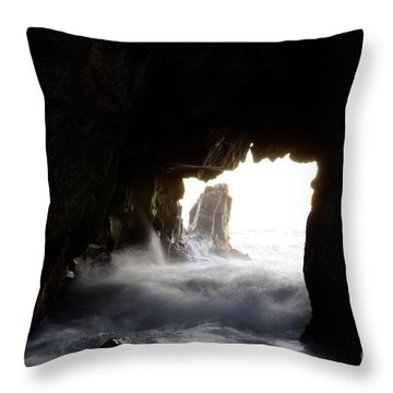 Incoming Tide Big Sur Throw Pillow by Bob Christopher