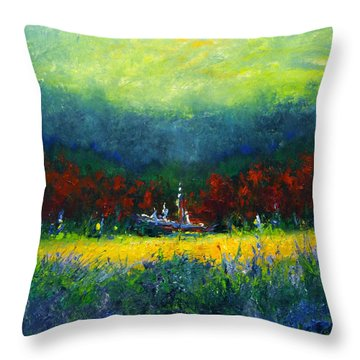 Independence Day Throw Pillow by Shannon Grissom