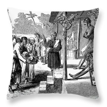 India: New Years Day, 1859 Throw Pillow by Granger
