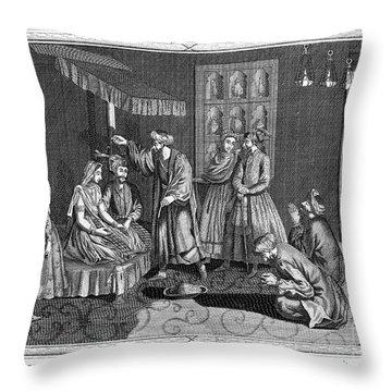 India: Wedding, 1780s Throw Pillow by Granger