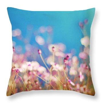 Infatuation In Blue II Throw Pillow by Amy Tyler