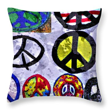 Inner Peace Throw Pillow by Juls Adams