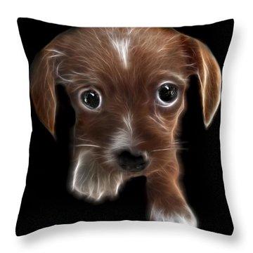Innocent Loving Eyes Throw Pillow by Peter Piatt