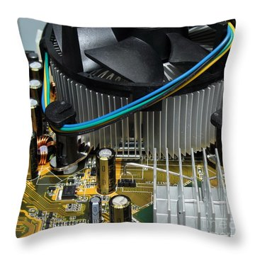 Inside View Of New Computer Throw Pillow by Yali Shi
