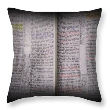 Inspirations 16 John 1 V14 Throw Pillow by Sara  Raber