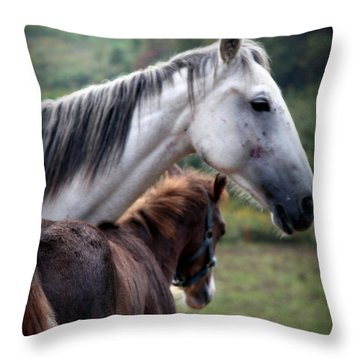 Instinct Of Love Throw Pillow by Karen Wiles