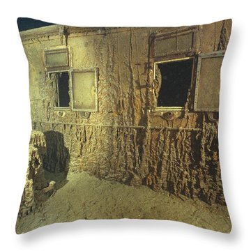 Interior Of A First Class Cabin Throw Pillow by Emory Kristof