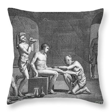 Interior Of Egyptian Bath Throw Pillow by Granger